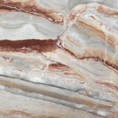 Piedra natural mármol de colores morados, ocres, rojos, rosas y escala de grises ARABESCATO OROBICO