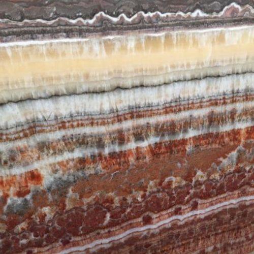 Piedra natural mármol con aspecto llamativo de colores mezclados vistosos ONYX FANTÁSTICO