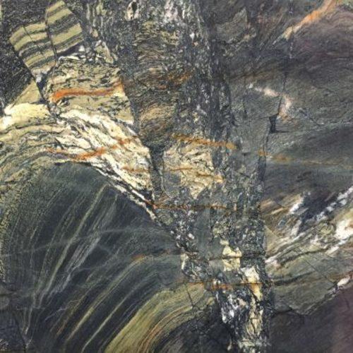 Piedra natural mármol de colores amarillo y distintos tonos de verde VERDE VALLE