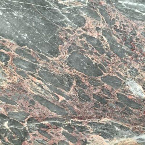 Piedra Natural Marmol De Tonalidades De Color Gris Y Rosa Salome - Color-marmol