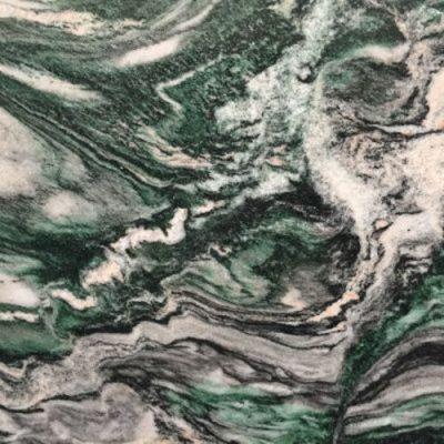 Piedra natural mármol con ondas de color verdoso VERDE LAPONIA
