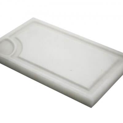 Plato de mesa para separar líquidos rectangular de Mármol Blanco CIRRUS