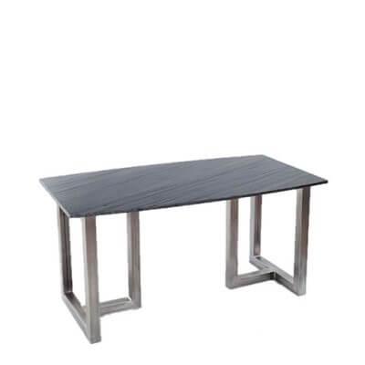 Mesa de comedor alta forma alargada de Mármol gris FACTORY